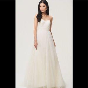 JENNY YOO Everly Ivory Wedding Dress 8 NEW NWT